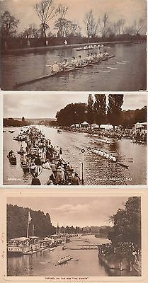 ROWING POSTCARDS - 14 in total, Cambridge, Oxford, Henley mix posted / unposted