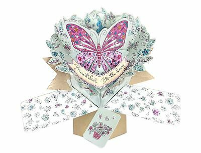 "Second Nature Pop Ups ""with A Butterfly"" Birthday Card"