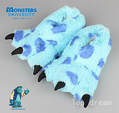 2017 Monsters Ink University Mike James Sulley Plush Novelty Slippers 24cm Shoes