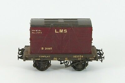 Weathered EM/4mm Scale  LNER ConFlat with Container Load