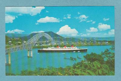 Former Cunard Liner QUEEN MARY leaving Balboa at the entrance to Panama Canal