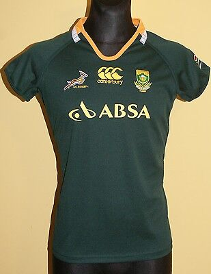 South Africa Home 2011 - 2013 Size 16 Women's Rugby Shirt Jersey Trikot