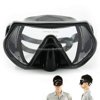 Scuba Diving Swimming Snorkeling Water Glass Goggles Tempered Lens Mask NC89