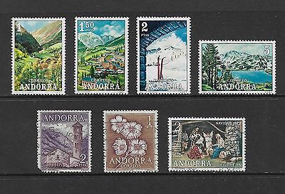 ANDORRA, Spanish - mixed collection, 1963 1966 1972, incl set of 4 Tourist Views