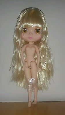 """Nude Factory 12"""" Neo Blythe doll with Blonde hair UK SELLER jointed body"""