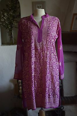 Antique Chemise SOIE SILK kurta blouse Inde brodée  broderie embroidery shirt