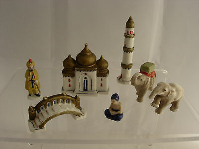 Job Lot Indian miniature figures, pottery porcelain Taj Mahal,
