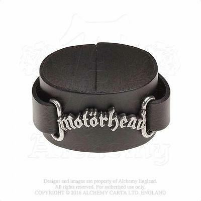 Alchemy Rocks - Motorhead - Logo Leather Wriststrap Metal Lemmy