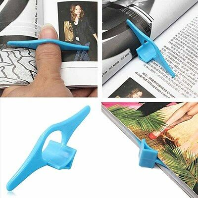 Thumb Book Page Holder Marker Finger Ring Plastic Reading Helper Book Mark Top