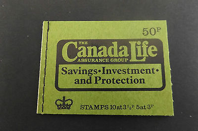 GB Stitched Stamp Booklet DT13 Canada Life Assurance Autumn 1973 10% OFF ANY 5+