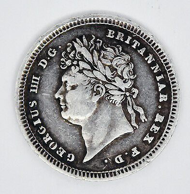 1829 George IIII Maundy Twopence Silver Great Britain Coin