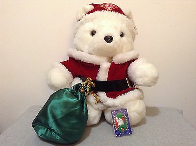 Collectible 1998 Santa Bear in Santa Suit w/Gift Bag  NWT! CLEAN & Nice! (#Bx-L)