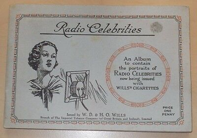 cigarette cards WILLS RADIO CELEBRITIES ALBUM + F/SET CARDS