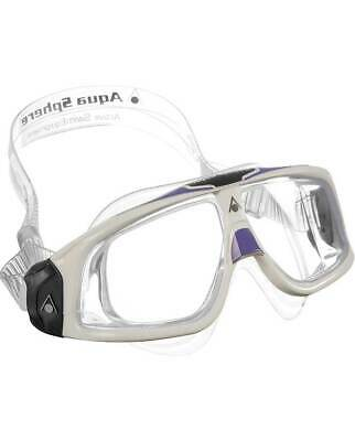 Aqua Sphere Seal 2.0 Ladies Swim Goggle Mask-Clear Lens-White/Lavender