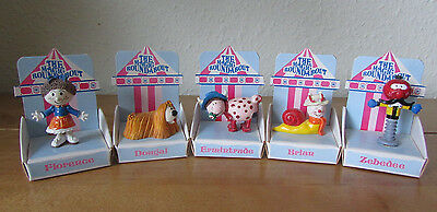 Fab Vintage 1993 Retro Magic Roundabout Hand Painted Figure Lot Boxed Collection