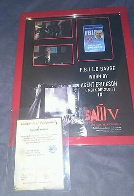 Saw 5 V screen used movie prop horror screen worn