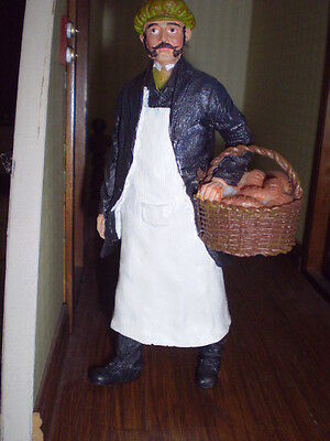 Dolls house figure 1/12th scale poly/resin Baker