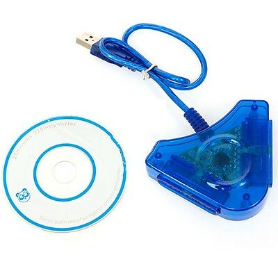 Dual PSX PS1 PS2 Plasation 2 To PC USB Game Pad Controller Converter Adapter M