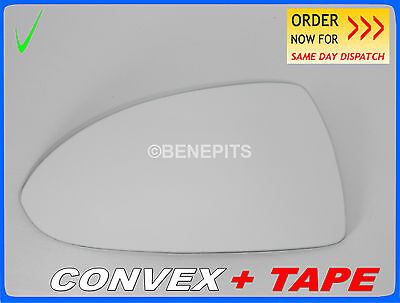 Wing Mirror Glass For VAUXHALL CORSA D 2006-2014  CONVEX TAPE Left  #F028 #26