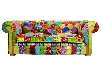 Patchwork Chesterfield Sofa Chair Designers Guild fabric