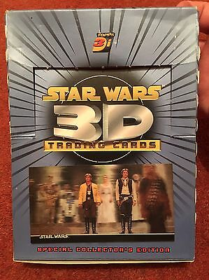 4 x Star Wars 3DI lenticular empty trading card box wideversion topps NEW HOPE
