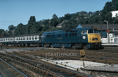 COLOUR RAIL Class 52 WESTERN D1037 at Exeter in 1974 Railway Slide