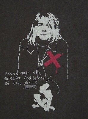 Nirvana Assasinate The Greater & Lesser of Two Evils T-Shirt L