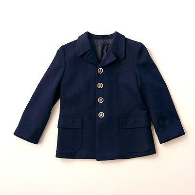Dark blue 60's early 70's girl's jacket  age 7 -NEW OLD STOCK-