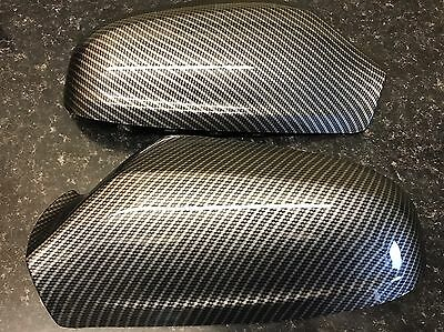 Vauxhall Astra H 04-09 Wing Mirror Covers Black Pair Left & Right carbon style.
