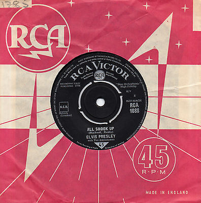ELVIS PRESLEY all shook up*heartbreak hotel 1964 UK RCA VICTOR 45