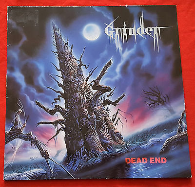 Grinder - Dead End - LP - 1989 - Rare First Press - OIS - No Remorse Records