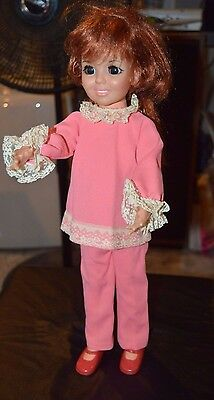 Vintage Ideal Crissy Doll. Head says 1968. Great Shape! Pants, Shirt & Shoes.