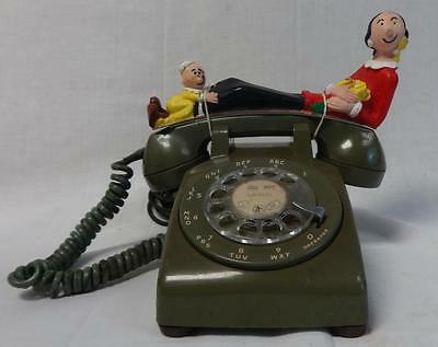 Beautiful 1960s Bakelite telephone with Olive Oyl and Sweet Pea