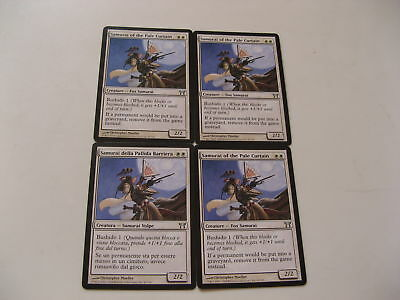 4x MTG Samurai della Pallida Barriera-Pale Curtain x4 Magic EDH ITA-ING COK