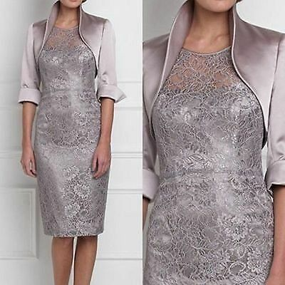 Lace Plus Size Mother of the Bride Dress Long Formal Occasion outfit Knee Length