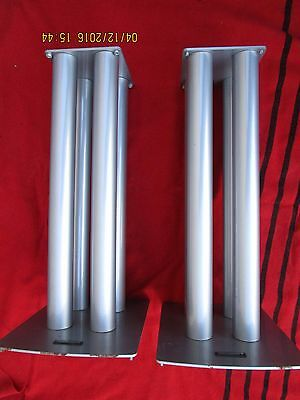 SoundStyle XS122 x2 Speaker Metal Heavy Duty Elegant Stands Pair Silver Used