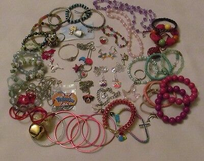 Pretty Lot Of Young Girls Assorted Jewelry/ Free Shipping