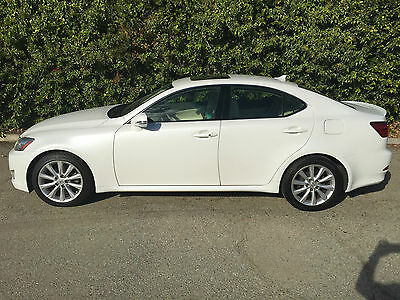 2009 Lexus IS Base Sedan 4-Door PEARL WHITE 1-OWNER ALWAYS SOUTHERN CALIFORNIA! DING DENT + CORROSION FREE
