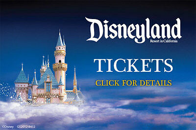 Disneyland 4 Tickets Two Day Hopper Adult&Child 2017