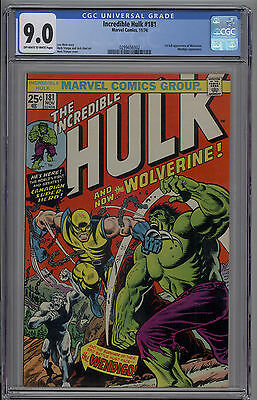 Incredible Hulk # 181 CGC 9.0 VF/NM 1st Full Appearance of Wolverine 1974 Key