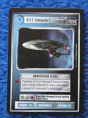 Star trek TNG Trading Card USS Enterprise-C Schwarzer Rand