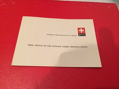 Swiss Trial Print Booklet Of Stamps And Trial Press History