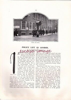 POLICE LIFE IN LONDON - Edwardian magazine article 7 pages