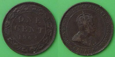 1904 Canada Large 1 Cent Graded as Very Fine
