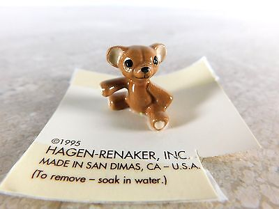 1995 Hagen Renaker Minature Teddy Bear on Tag
