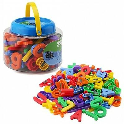 ABC Magnets - 109 Magnetic Alphabet Letters and Numbers With Take Along Bucket