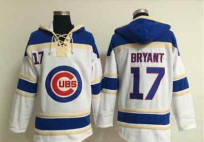 2016 champions Chicago Cubs #17 Kris Bryant MLB Baseball Hoodie Jersey Classic