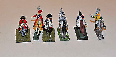 French General Officers Napoleonic Minifigs 25mm