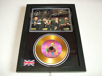Cold Play  Signed Framed Gold Cd  Disc   443233