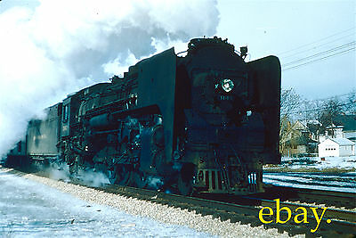 Al Chione Slide Of New York Central 4-8-2 @ South Bend, Indiana 1954.